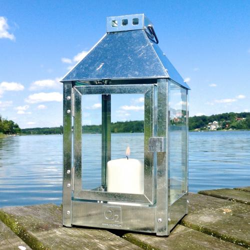 A2 Living lanterne, galvaniseret stål - 33 cm