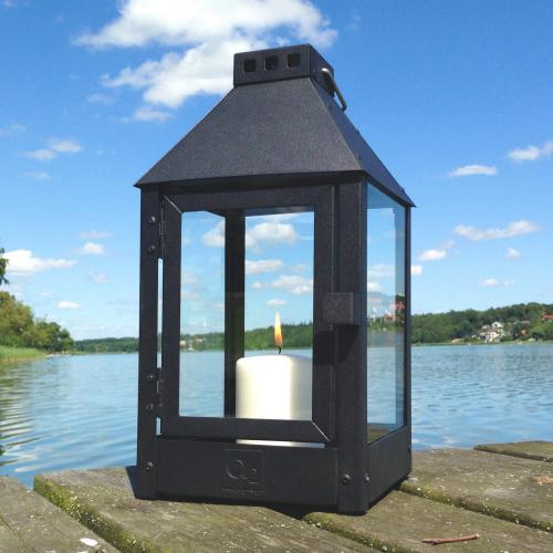 A2 Living lanterne, sortlakeret stål - 33 cm