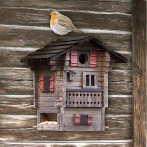 Wildlife Garden fuglehus/foderautomat - hytte