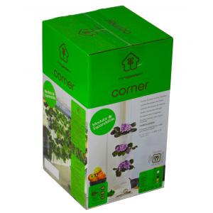 Minigarden Corner plantevæg - sort