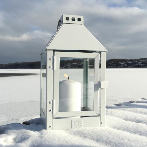 A2 Living lanterne, hvidlakeret stål - 33 cm