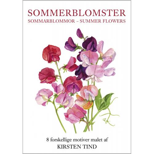 Koustrup & Co. kortmappe - sommerblomster
