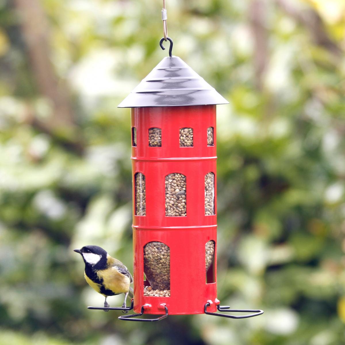 Wildlife Garden foderautomat til frø - rød