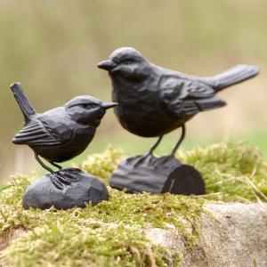 Wildlife Garden støbejernsfugl - solsort