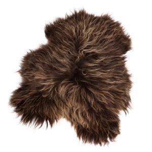 Organic Sheep økologisk lammeskind - brun, langt hår