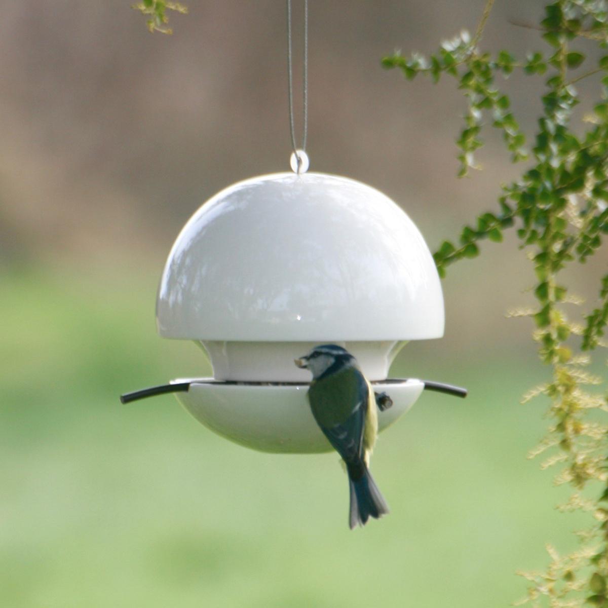 Green & Blue foderkugle til fuglefrø - hvid