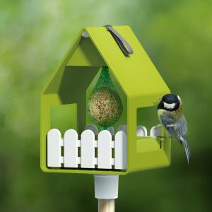 Emsa foderbræt og fuglebad - grøn med hvid
