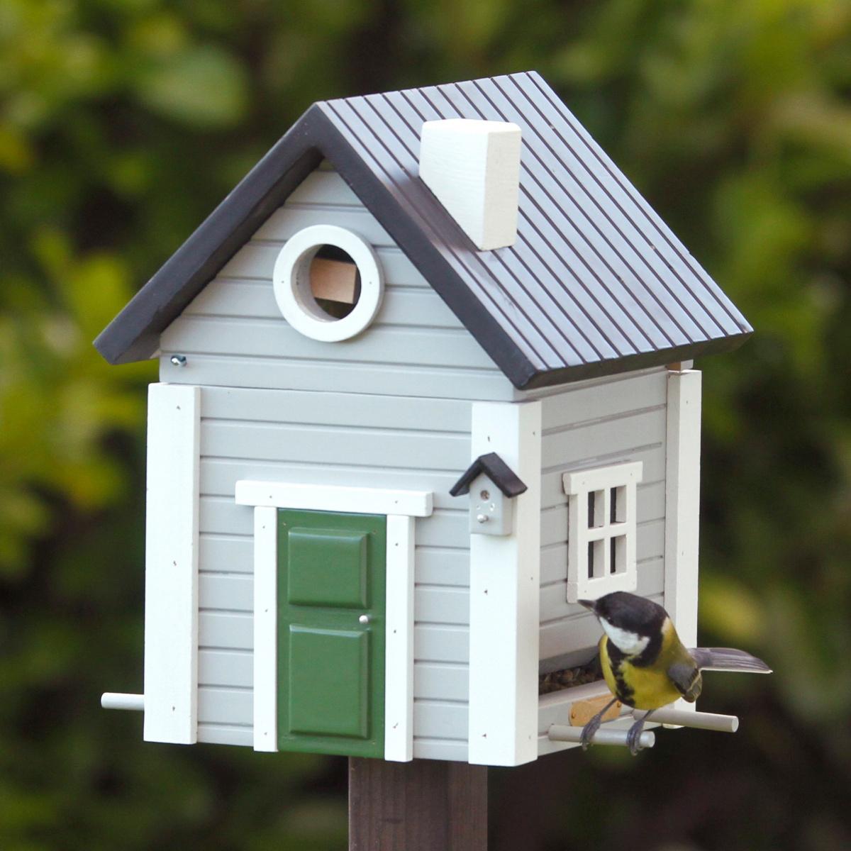 Wildlife Garden fuglehus/foderautomat - grå