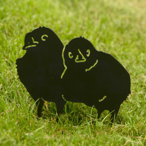 Wildlife Garden dyresilhuet - kyllinger