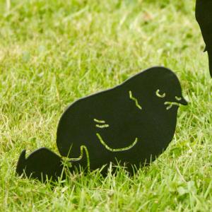 Wildlife Garden dyresilhuet - kylling med æg