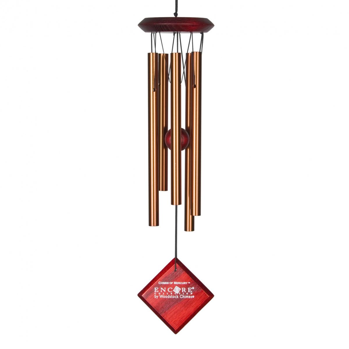 Woodstock vindspil, 35 cm - Merkur, bronze