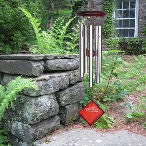 Woodstock vindspil, 43 cm - Mars, sølv/mørk