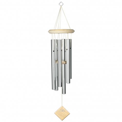 Woodstock vindspil, 68 cm - Pluto, sølv/lys