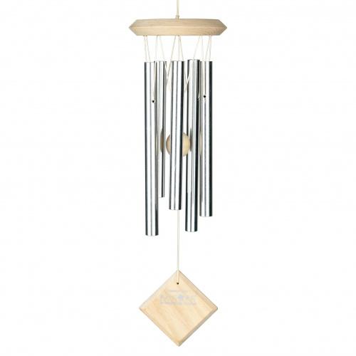 Woodstock vindspil, 43 cm - Mars, sølv/lys