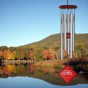 Woodstock vindspil, 35 cm - Merkur, sølv/mørk