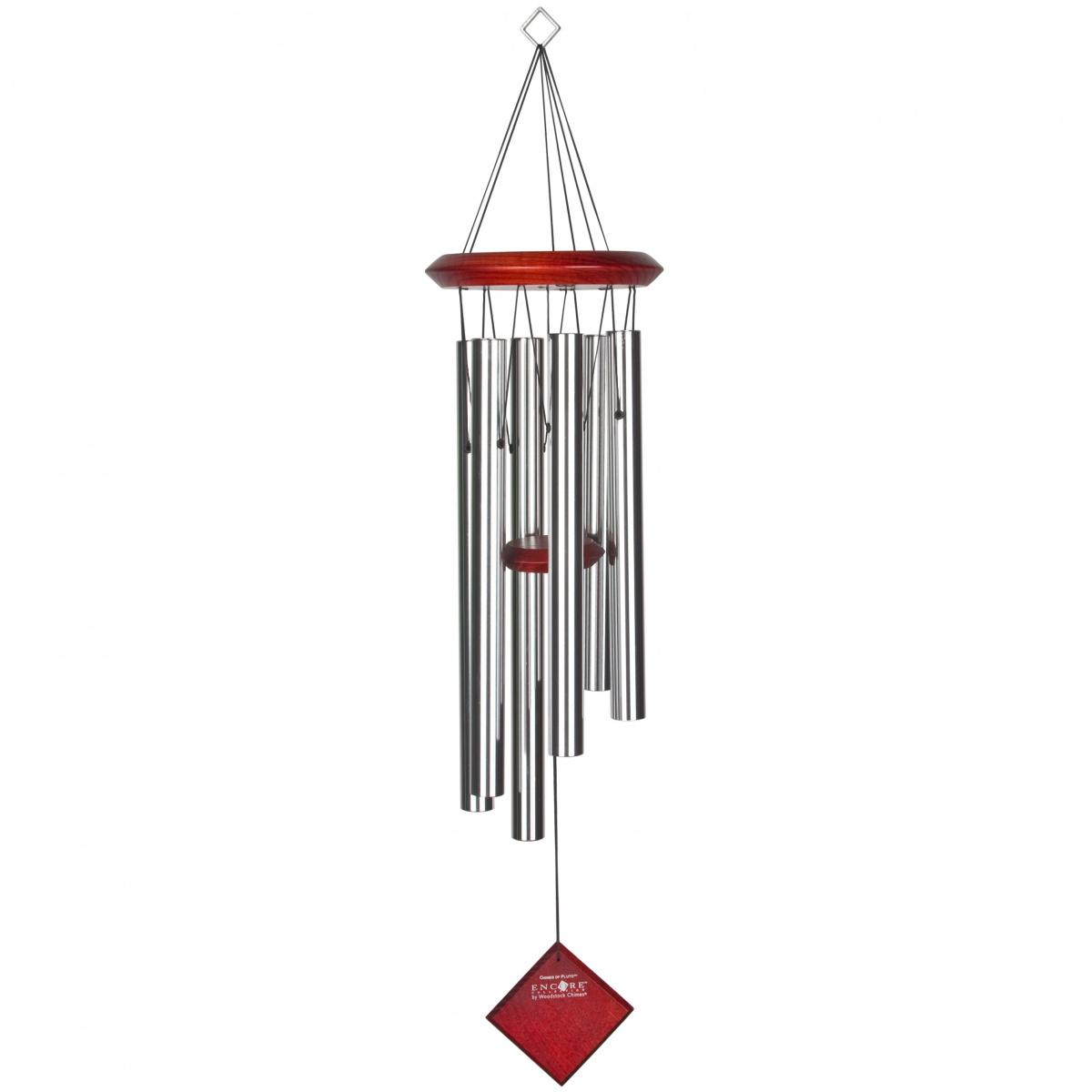Woodstock vindspil, 68 cm - Pluto, sølv/mørk