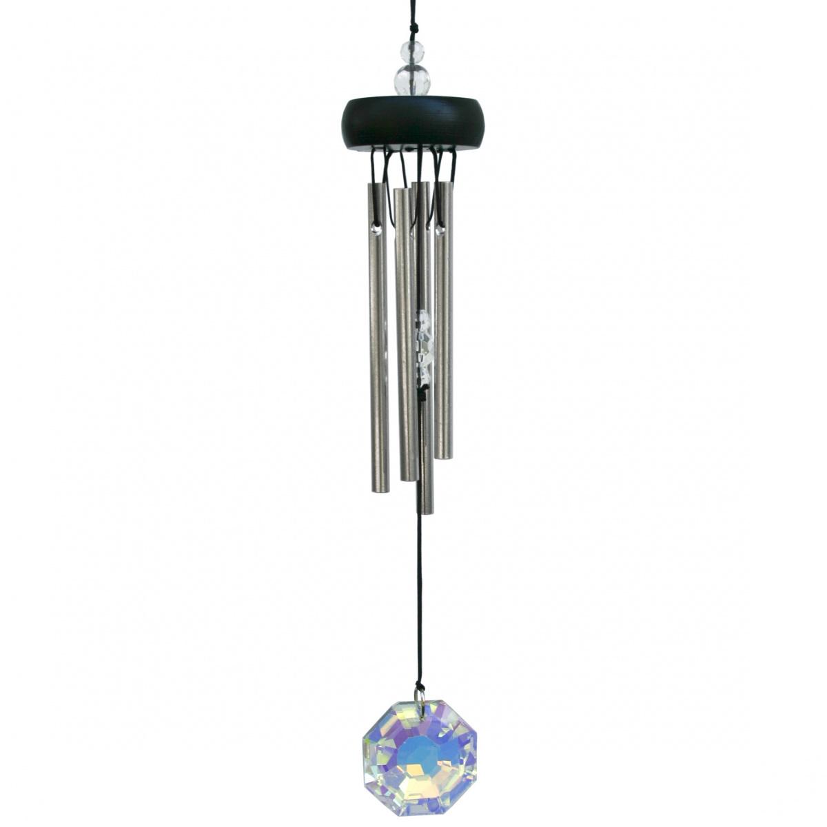 Woodstock vindspil, 30 cm - Ædelsten, krystal