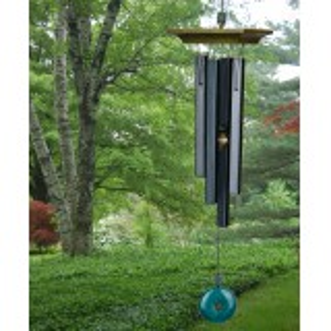 Woodstock vindspil, 55 cm - Ædelsten, jade