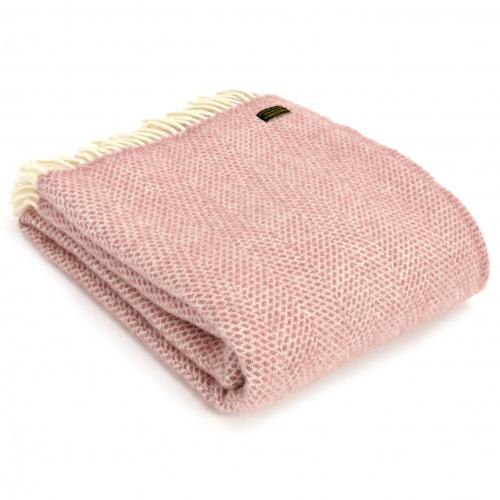 Tweedmill uldplaid - Beehive Dusky Pink