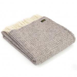 Tweedmill uldplaid - Illusion Natural