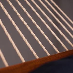 La Siesta hængekøje, polsteret og tværpind - Alabama Navy Blue