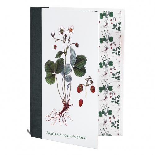 Flora Danica notesbog med jordbær