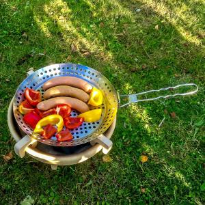 Denk grillpande i rustfrit stål