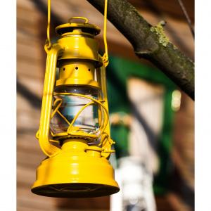 Feuerhand petroleumslampe - signalgul