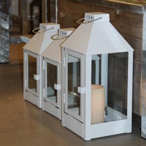 A2 Living lanterne, hvidlakeret stål - 25 cm