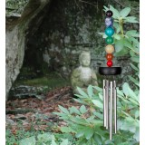Woodstock vindspil, 29 cm - Chakra, 7 sten