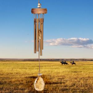 Woodstock vindspil, 30 cm - Ædelsten, jaspis