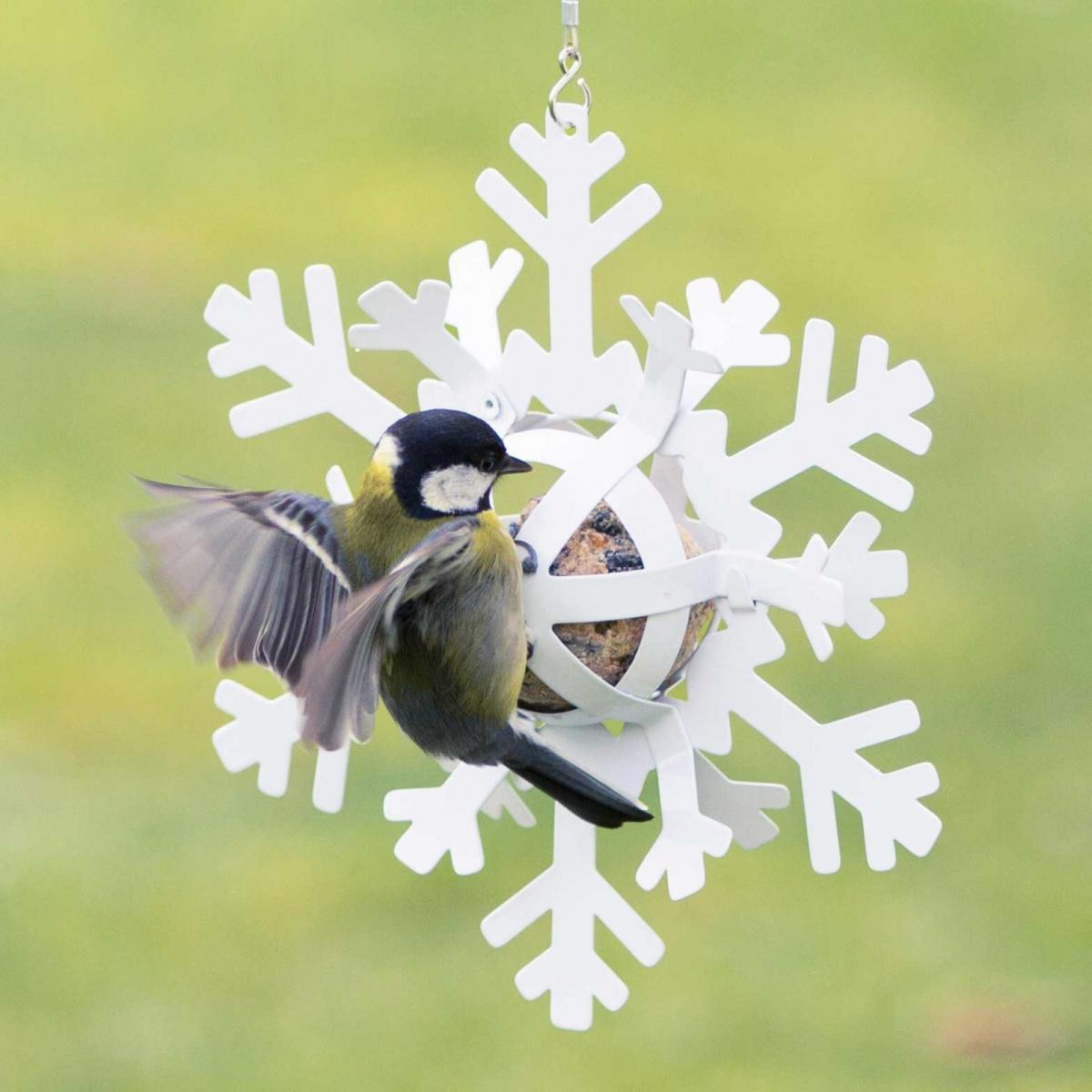 Wildlife Garden snefnug til mejsebolde - hvid