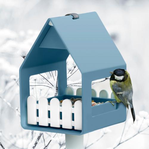 Emsa foderbræt og fuglebad - gammelblå