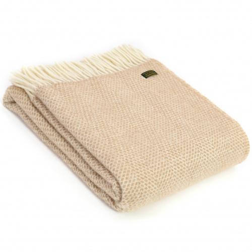 Tweedmill uldplaid - Beehive Beige