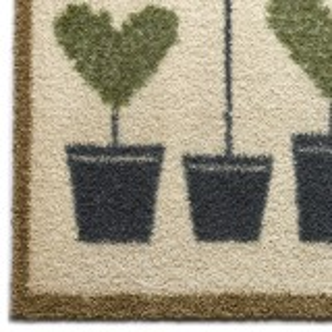 Hug Rug øko dørmåtte, 65x85 - Planter