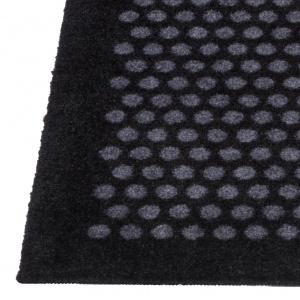 Tica dørmåtte, 60x90 - Prikker, sort/grå