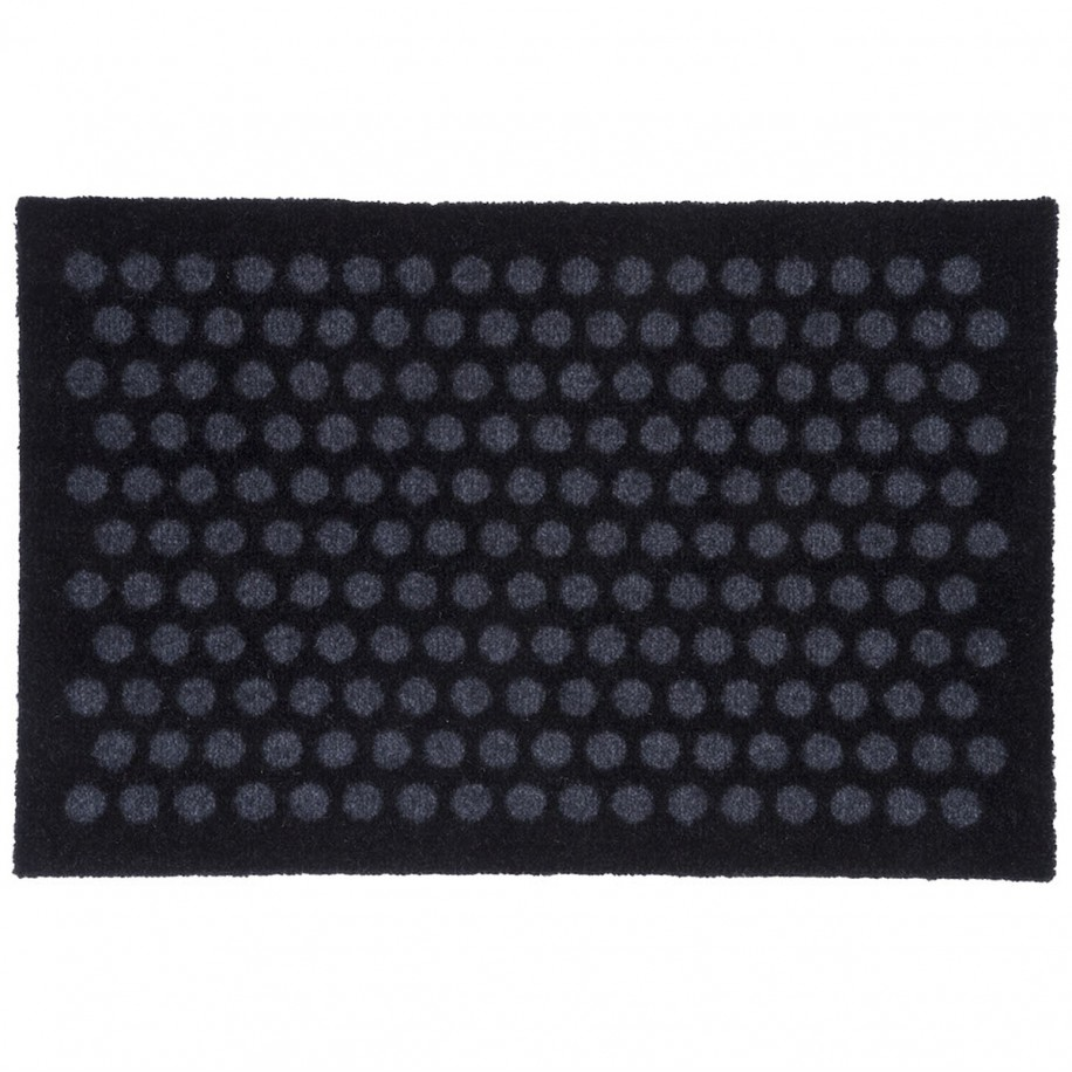 Tica dørmåtte, 40x60 - Prikker, sort/grå