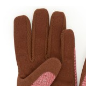Burgon & Ball havehandsker, dame - rød tweed