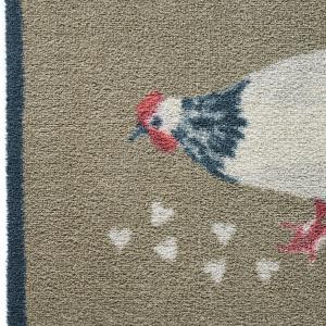 Hug Rug øko dørmåtte, 65x85 - Høne