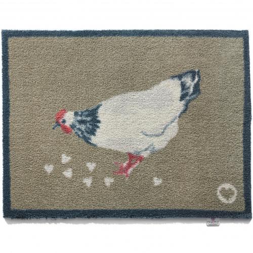 Hug Rug øko dørmåtte, 65x85 - Chicken 1