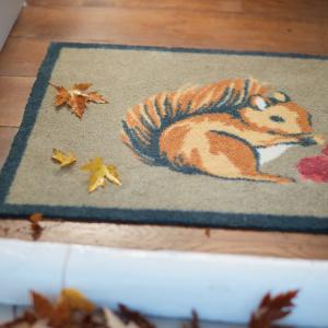 Hug Rug øko dørmåtte, 65x85 - Squirrel 1