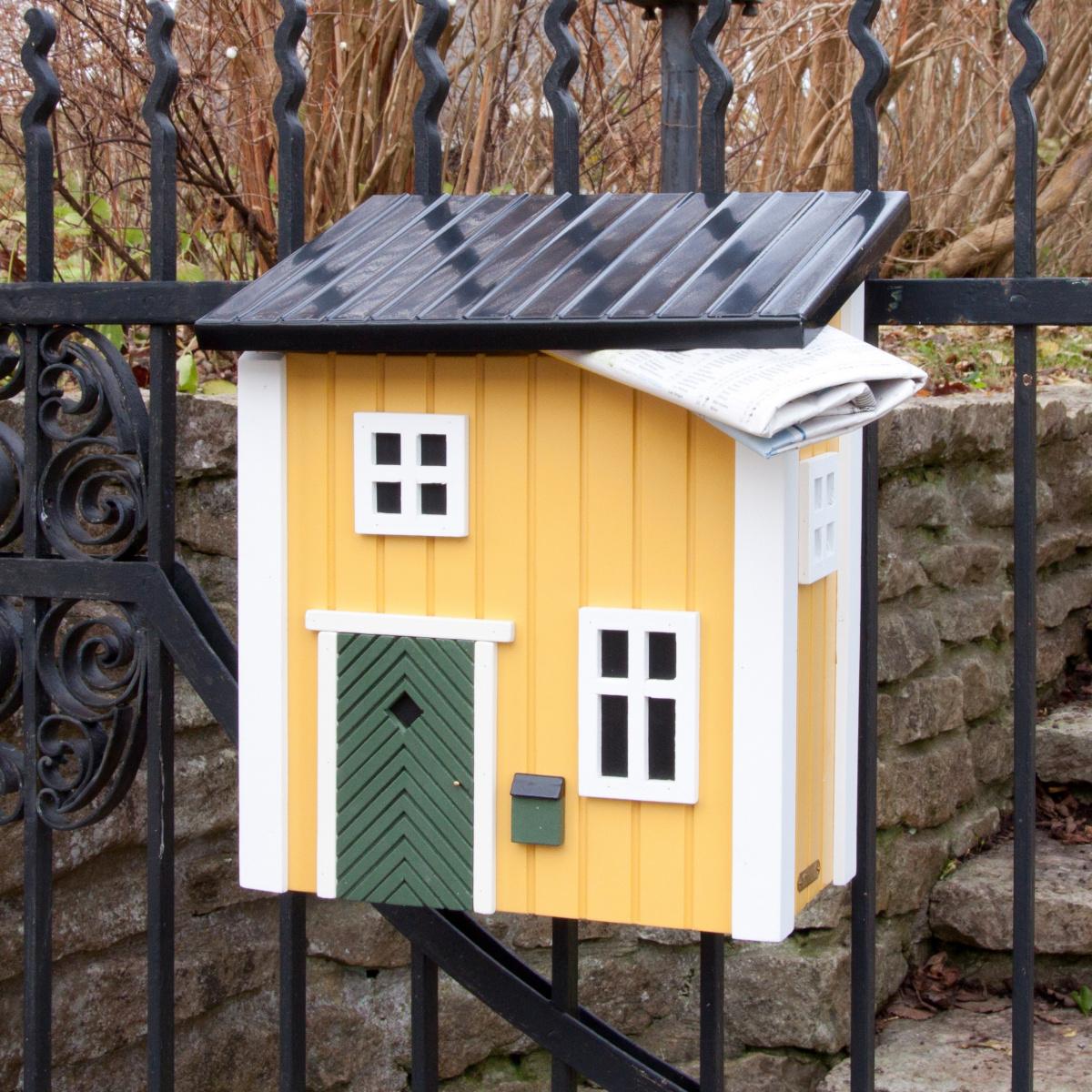 Wildlife Garden postkasse - gul