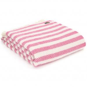 Tweedmill uldplaid - Candy Cane