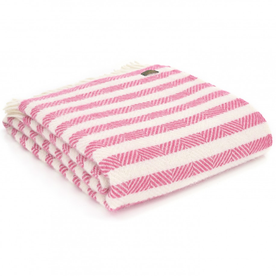 Tweedmill uldplaid - Stripe Candy Cane