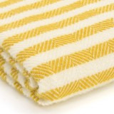 Tweedmill uldplaid - Stripe Lemon Sherbet