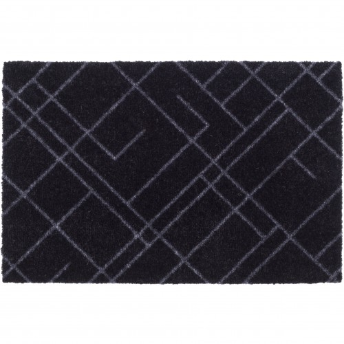 Tica dørmåtte, 40x60 - Linjer, sort/grå