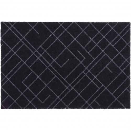 Tica dørmåtte, 60x90 - Linjer, sort/grå
