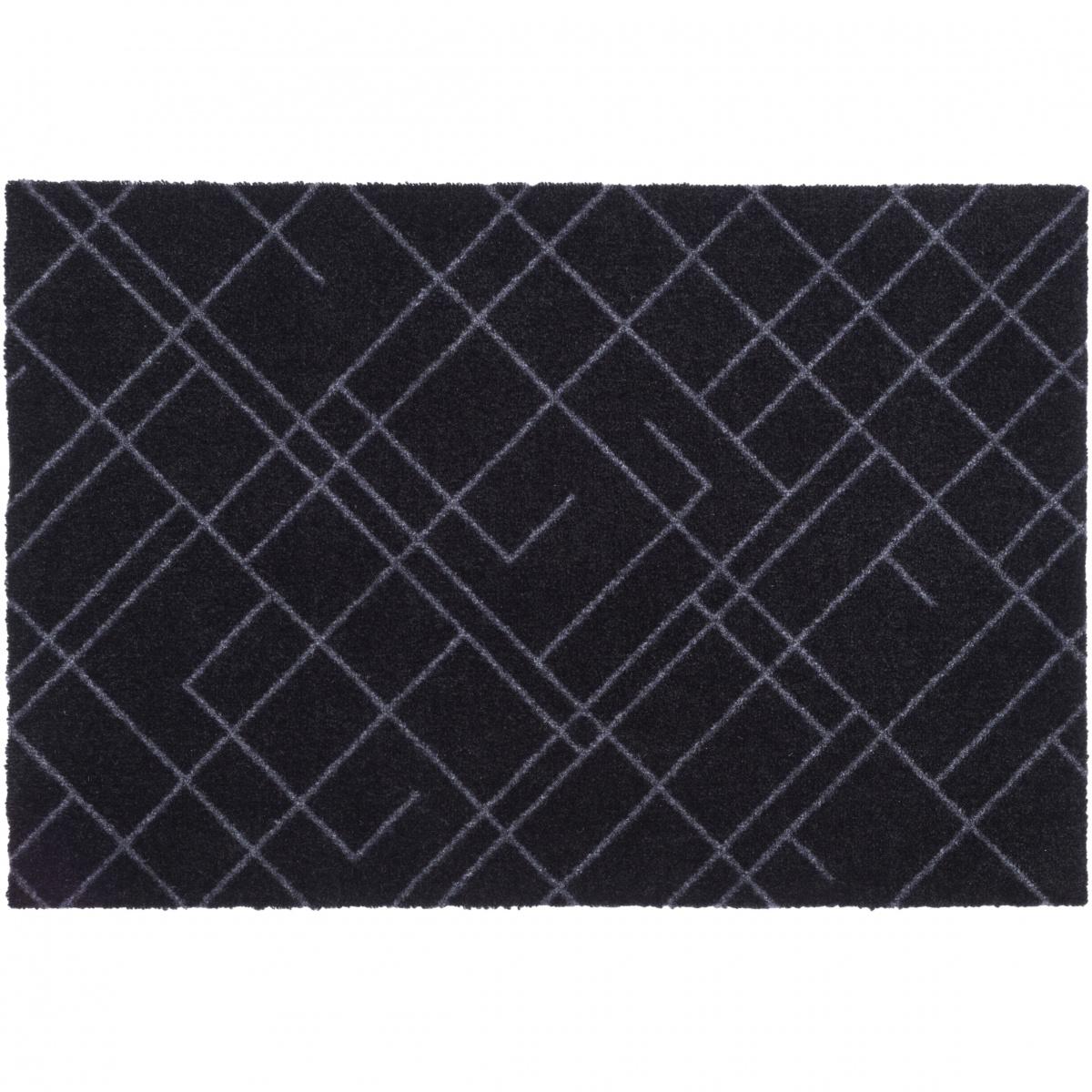 Tica dørmåtte, linjer/sort -  60x90
