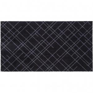 Tica dørmåtte, 67x120 - Linjer, sort/grå