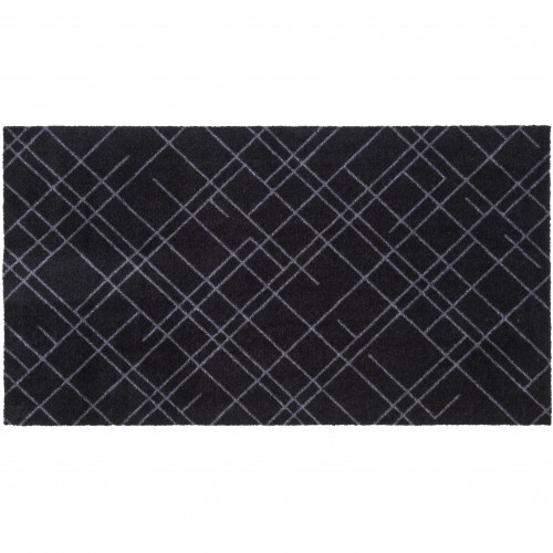 Tica dørmåtte, linjer/sort -  67x120